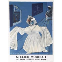 Max Ernst, Sign for a School for Pirates - Atelier Mourlot, Lithograph Poster