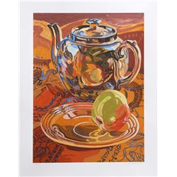 Janet Fish, Tea Pot and Apple, Lithograph