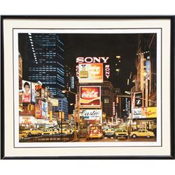 Ken Keeley, Time Square Night, Changing Scene, Serigraph