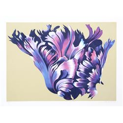 Lowell Blair Nesbitt, Black Parrot Tulip, Silkscreen