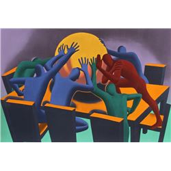 Mark Kostabi, Earth Inc., Serigraph