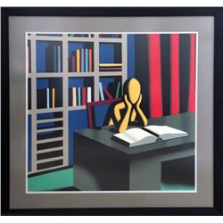 Mark Kostabi, Useless Knowledge, Silkscreen