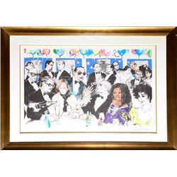 LeRoy Neiman, Celebrity Night at Spago, Serigraph