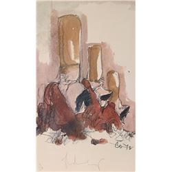 Claes Oldenburg, Fagends Carved in Rock, Fagend Canyon, Offset Lithograph