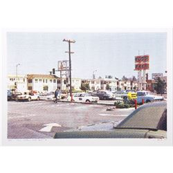 Larry Stark, V - Parking Lot from One Culture Under God, Photo Screenprint