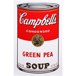 Andy Warhol, Campbell's Soup Can: Green Pea, Sunday B. Morning Serigraph