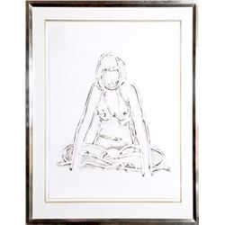 Tom Wesselmann, Monica Sitting Against a Wall, Lithograph