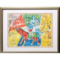 Marc Chagall, Circus Horse Riders, Offset Lithograph
