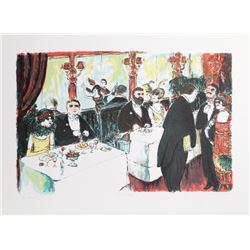 Edward M. Plunkett, Cafe Rouge, Lithograph