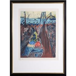 Ludwig Bemelmans, Brooklyn Bridge, Lithograph