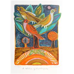 Judith Bledsoe, A Watch of Nightingales, Lithograph