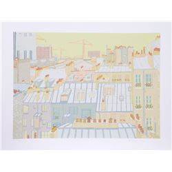 Marion McClanahan, Paris Roofs, Serigraph