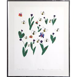 Micaela Meyers, Wendy's Garden, Screenprint
