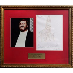 Luciano Pavarotti, Italian Church for Doodle For Hunger, Pencil Drawing