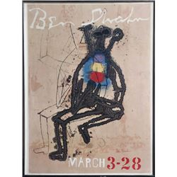 Ben Shahn, Exhibition March 3 - 28, Lithograph Poster