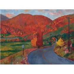Kyohei Inukai (aka Earle Goodenow), Upstate New York - Fall, Oil Painting