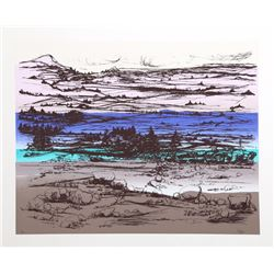Joseph Grippi, Mountain Landscape over Seascape, Silkscreen