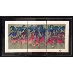 Guillaume Azoulay, Cavalcade Triptych, Three Serigraphs