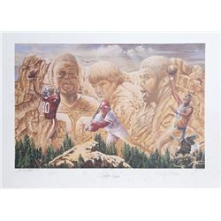Gene Locklear, All Time Leaders, Lithograph, Jerry Rice, Pete Rose, Abdul-Jabbar