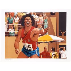 William Nelson, Shot Put from the Bruce Jenner Decathlon Suite, Lithograph
