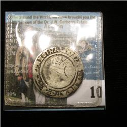 1563 Great Britain Hammered Silver Groat, depicts Queen Elizabeth.