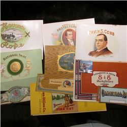 (15) Different Cigar & Cigar Box Labels, all very colorful.