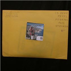 (15) Different Pittsburgh Pirates Photo Cards with autographs and a Pirates Sticker. 'Doc' was selli