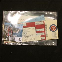 "(3) Tickets for Friday Aug. 21, 1998 Game ""Chicago Cubs vs San Francisco Giants"". This is the game i"