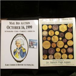 (5) Different large format Color Catalogs of Coins & Memorabilia dating 1987-2010.