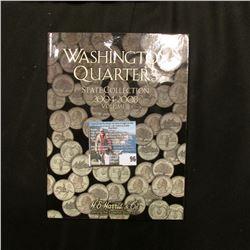50-Coin Set of Gem BU Statehood Quarters in a H.E. Harris & Co. Coin Folder.