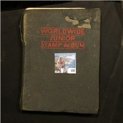 """Worldwide Junior Stamp Album"" includes a few stamps."
