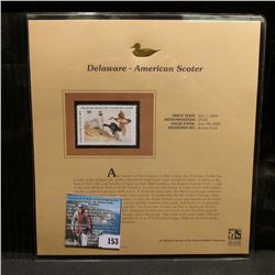 2004 Delaware $9 Waterfowl Stamp in mint, unused Pristine condition in a neat plastic page with lite