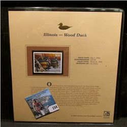 2004 Illinois $10 Waterfowl Stamp in mint, unused Pristine condition in a neat plastic page with lit