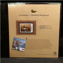 2004 Louisiana $5.50 Waterfowl Stamp in mint, unused Pristine condition in a neat plastic page with