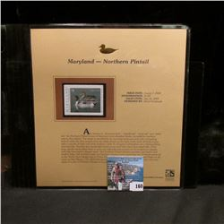 2004 Maryland $9 Waterfowl Stamp in mint, unused Pristine condition in a neat plastic page with lite