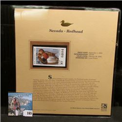 2004 Nevada $10 Waterfowl Stamp in mint, unused Pristine condition in a neat plastic page with liter