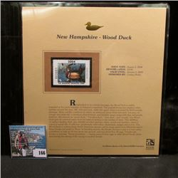 2004 New Hampshire  $4 Waterfowl Stamp in mint, unused Pristine condition in a neat plastic page wit