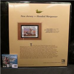 2004 New Jersey $5 Waterfowl Stamp in mint, unused Pristine condition in a neat plastic page with li