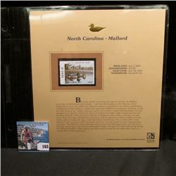 2004 North Carolina $10 Waterfowl Stamp in mint, unused Pristine condition in a neat plastic page wi