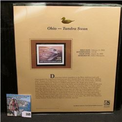 2004 Ohio $15 Waterfowl Stamp in mint, unused Pristine condition in a neat plastic page with literat