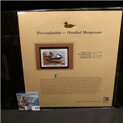 2004 Pennsylvania $5.50 Waterfowl Stamp in mint, unused Pristine condition in a neat plastic page wi