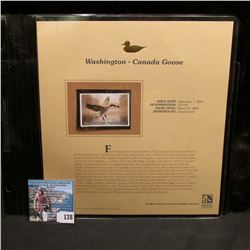 2004 Washington $10 Waterfowl Stamp in mint, unused Pristine condition in a neat plastic page with l