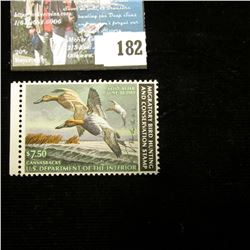 1982 RW49 U.S. Department of the Interior Migratory Bird Hunting Stamp, not hinged, signed by the ar