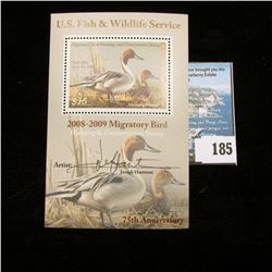 2007 RW74 U.S. Department of the Interior Migratory Bird Hunting $15 Stamp, Artist signed Pane,