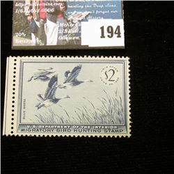 1955 RW22 U.S. Department of the Interior Migratory Bird Hunting Stamp, Original gum, not signed. De