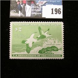 1957 RW24 U.S. Department of the Interior Migratory Bird Hunting Stamp, Original gum, not signed. De