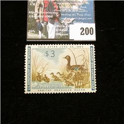 1961 RW28 U.S. Department of the Interior Migratory Bird Hunting Stamp, light hinge, not signed. Dep