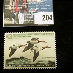 1965 RW32 U.S. Department of the Interior Migratory Bird Hunting Stamp, original gum, light hinge, n