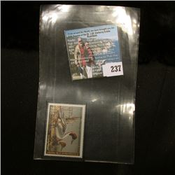 2008 RW75 U.S. Department of the Interior Migratory Bird Hunting $15.00 Stamp, original gum, unused,