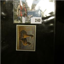 2011 RW78 U.S. Department of the Interior Migratory Bird Hunting $15.00 Stamp, original gum, unused,